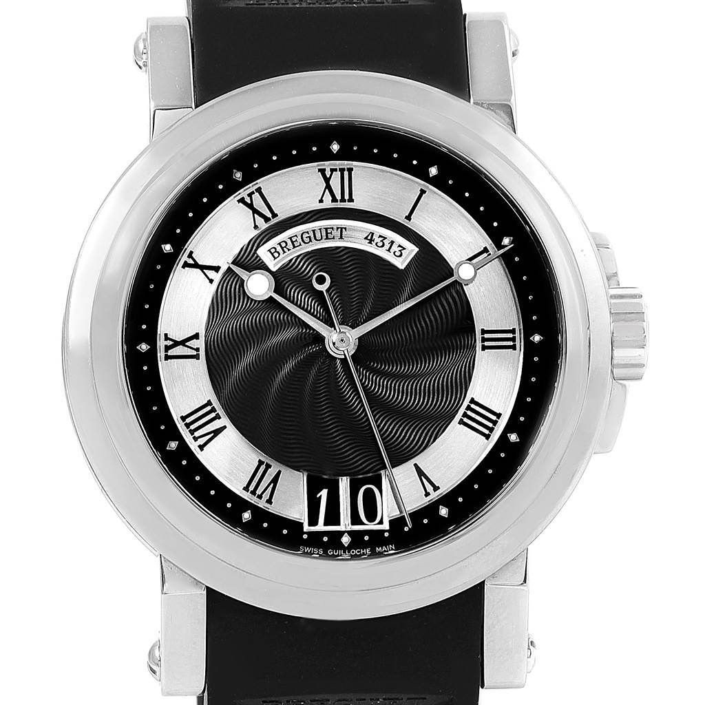 Breguet Marine Big Date Automatic Steel Mens Watch 5817ST Box Papers SwissWatchExpo