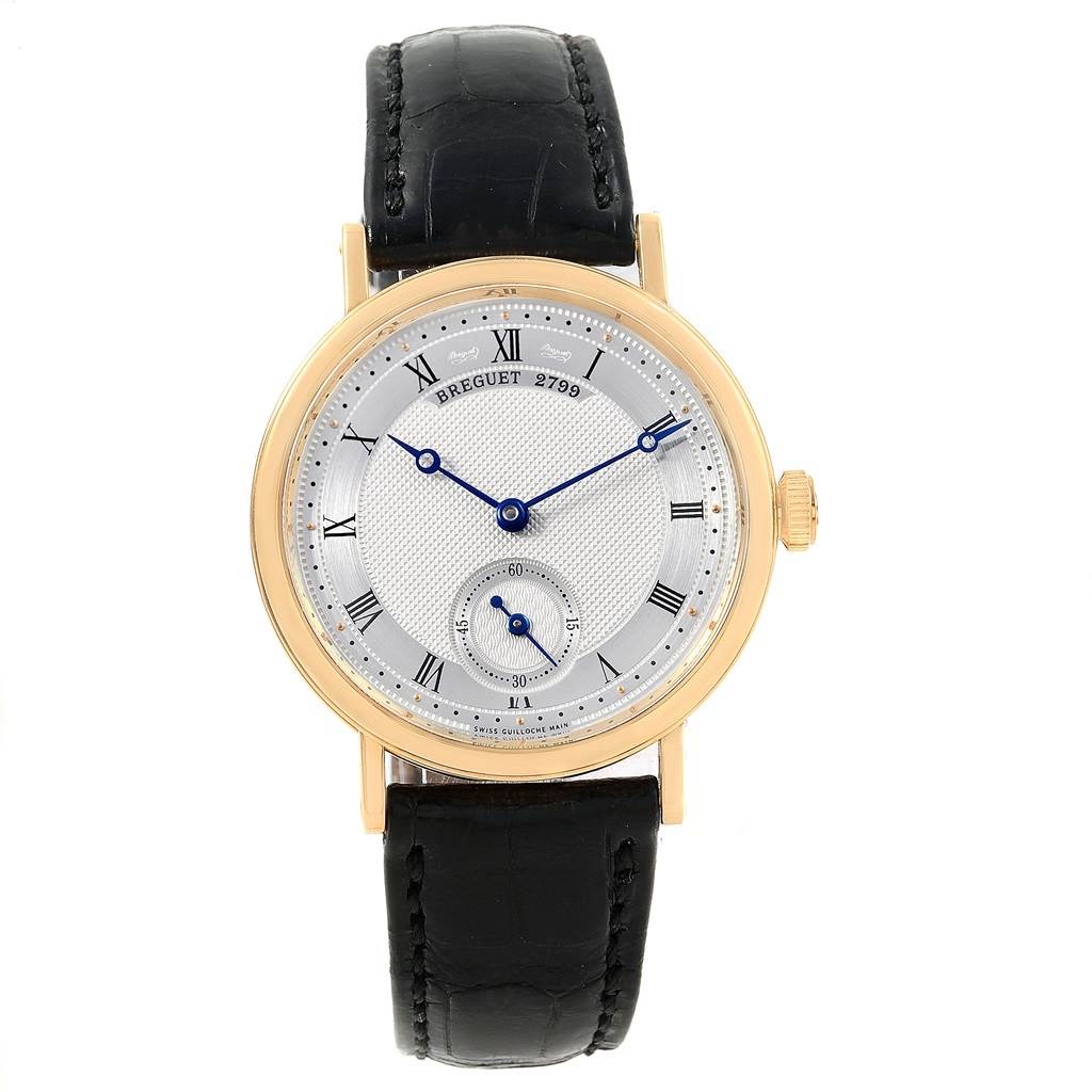 Breguet Classique 18K Yellow Gold Mechanical Mens Watch 5907 SwissWatchExpo