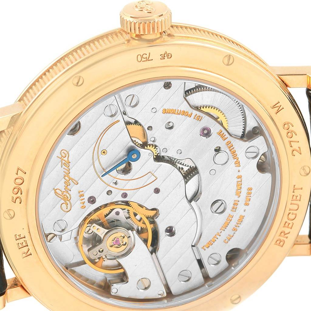 17783 Breguet Classique 18K Yellow Gold Mechanical Mens Watch 5907 SwissWatchExpo