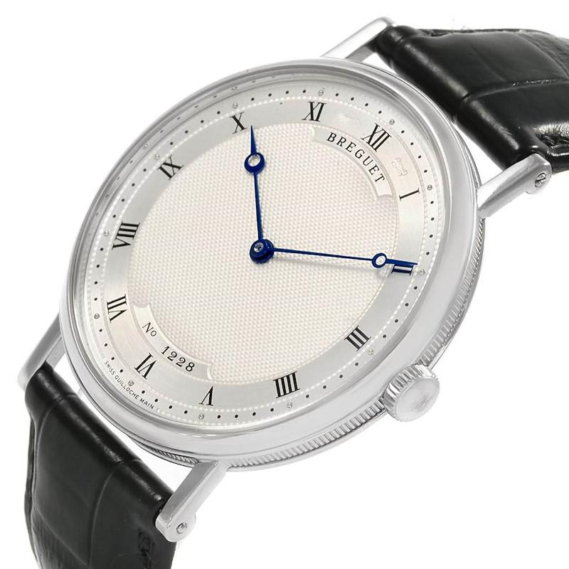 Breguet Classique 18K White Gold Ultra Thin Watch 5157 SwissWatchExpo