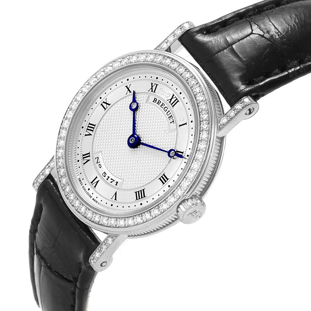 21039 Breguet Classique 18K White Gold Diamond Ladies Watch 8561 SwissWatchExpo