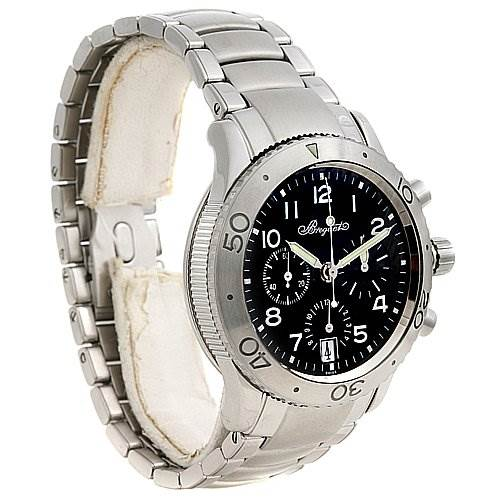 2447 Breguet Steel Transatlantique 3820 Xx 3820st/h2/sw9 Chrono Watch SwissWatchExpo