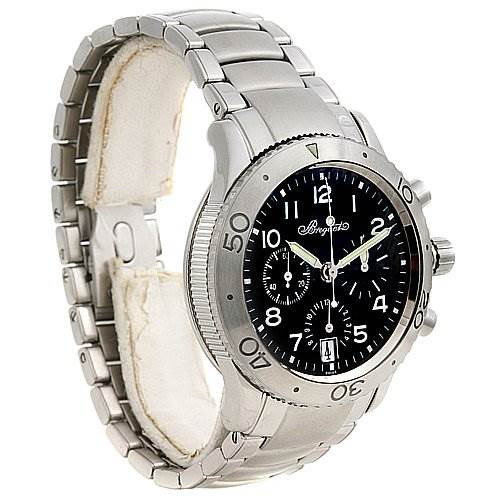 Breguet Steel Transatlantique 3820 Xx 3820st/h2/sw9 Chrono Watch SwissWatchExpo