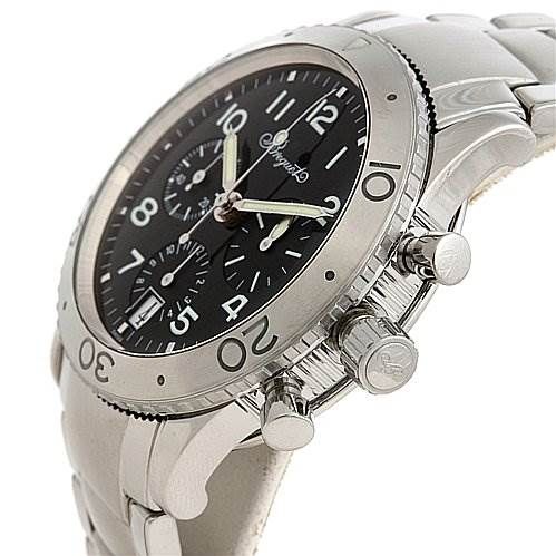 Breguet Steel Transatlantique 3820 Xx 3820st/h2/sw9 Chrono Watch SwissWatchExpo