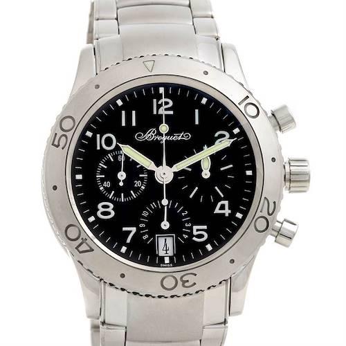 Photo of Breguet Steel Transatlantique 3820 Xx 3820st/h2/sw9 Chrono Watch