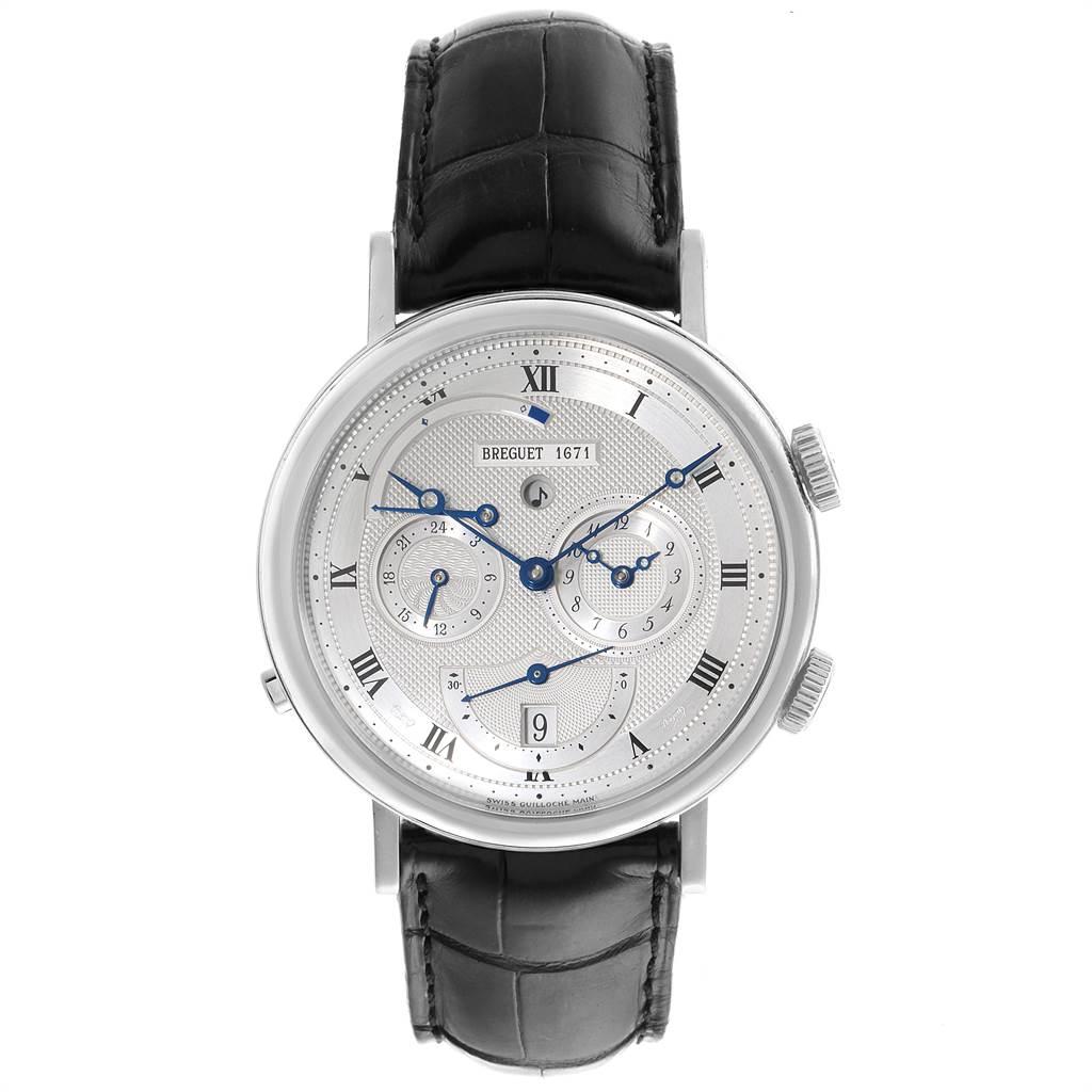 23141 Breguet Classique Alarm Le Reveil du Tsar 18K White Gold Watch 5707 SwissWatchExpo