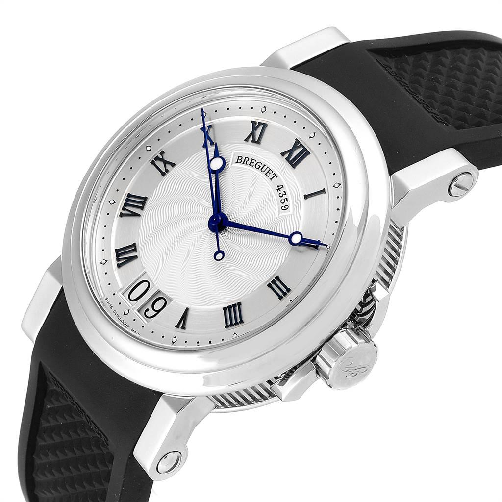 23529 Breguet Marine Big Date Silver Dial Automatic Steel Mens Watch 5817ST SwissWatchExpo