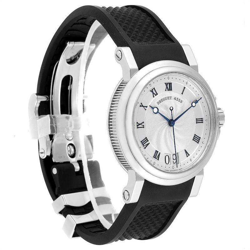 Breguet Marine Big Date Silver Dial Automatic Steel Mens Watch 5817ST SwissWatchExpo