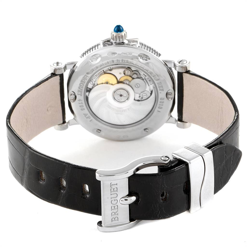 26038 Breguet Classique White Gold Mother Of Pearl Diamond Ladies Watch 8818 SwissWatchExpo