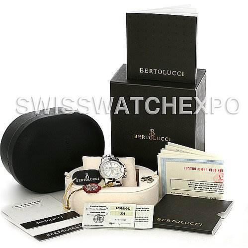 2942 Bertolucci Uomo Chronograph Stainless Steel Automatic Men's Watch SwissWatchExpo