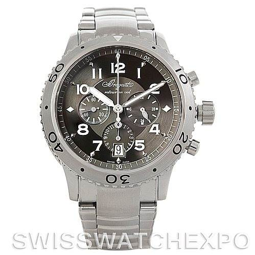 5774 Breguet Transatlantique Type XXI Flyback Mens Watch 3810 SwissWatchExpo
