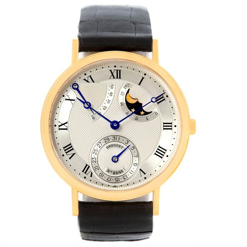 Breguet Classique Power Reserve 18K Yellow Gold Watch 3137 SwissWatchExpo