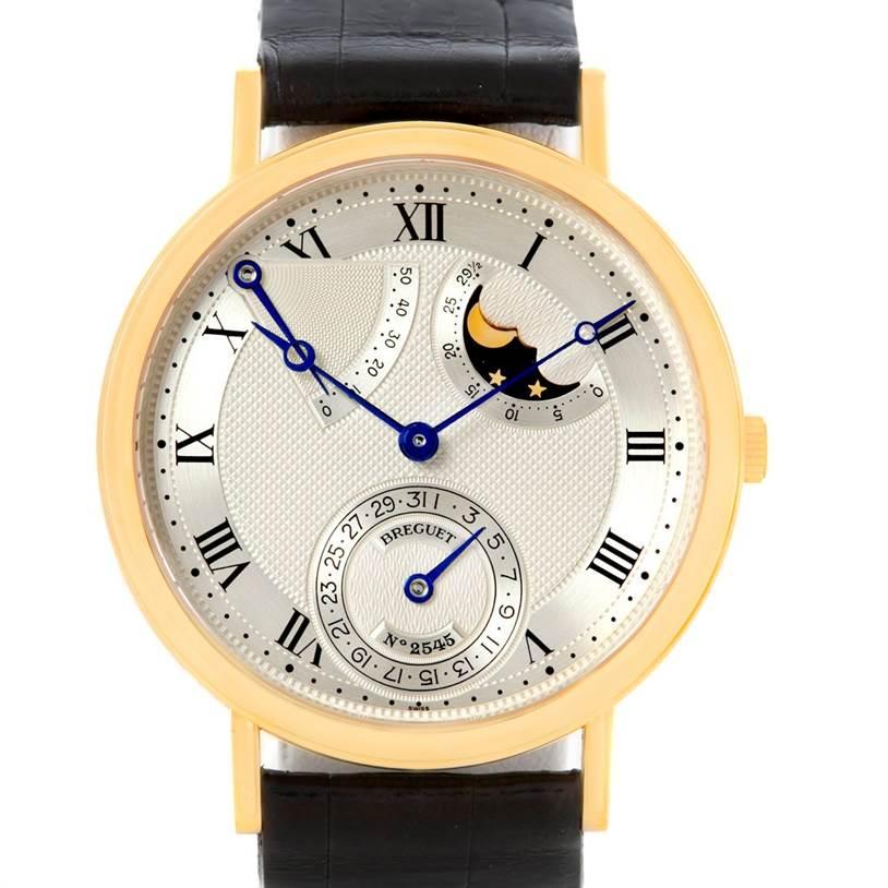 Breguet Classique Power Reserve 18K Yellow Gold Watch 3137 SwissWatchExpo