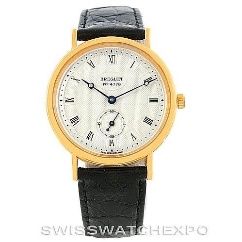 Breguet Classique 18K Yellow Gold Mens Watch 3910BA/15/286 SwissWatchExpo