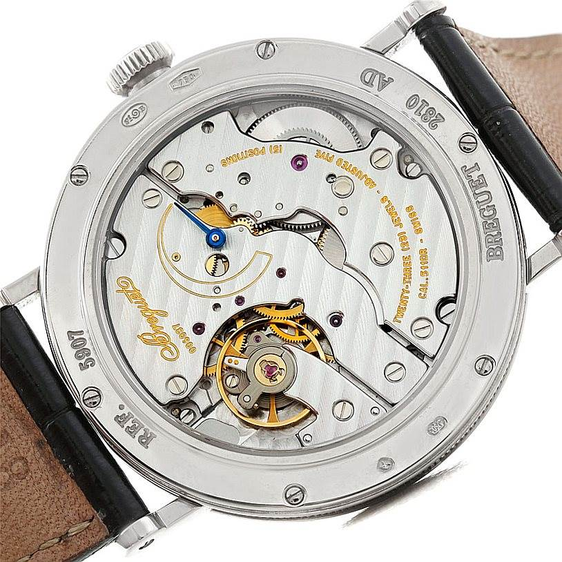 7334 Breguet Classique 18K White Gold Mens Watch 5907 SwissWatchExpo