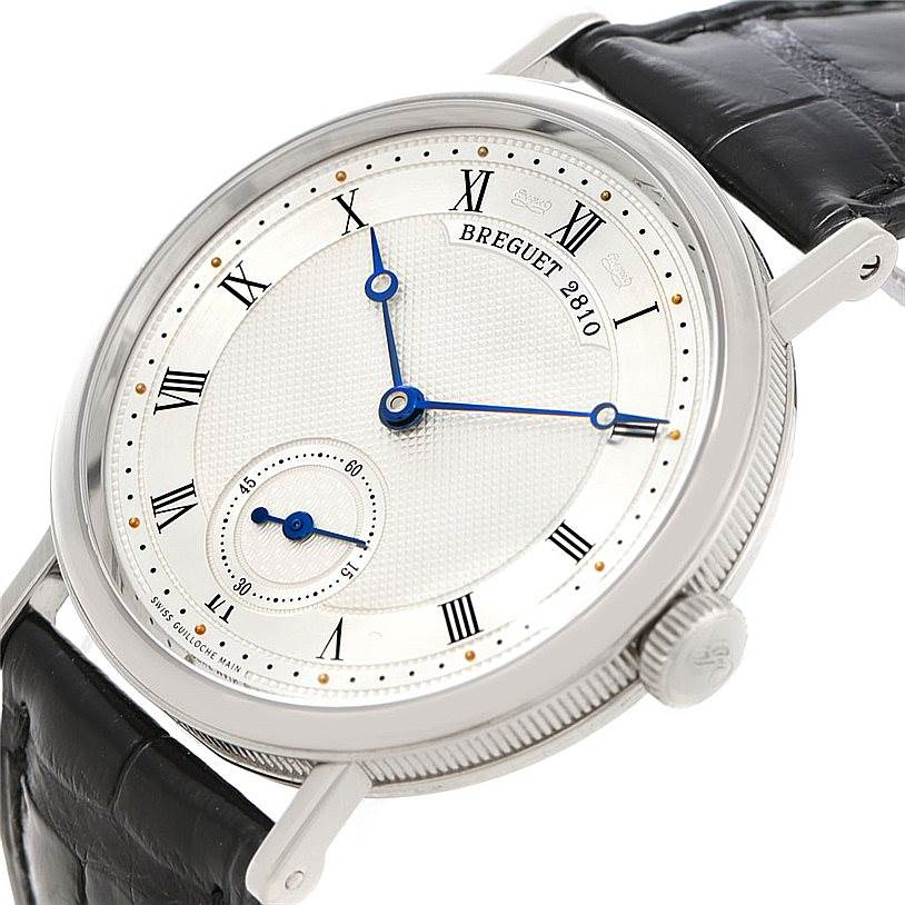Breguet Classique 18K White Gold Mens Watch 5907 SwissWatchExpo