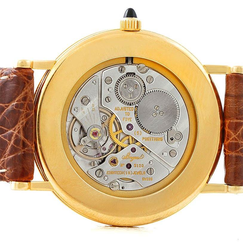 7355 Breguet Classique 18K Yellow Gold Mens Watch 3200 SwissWatchExpo