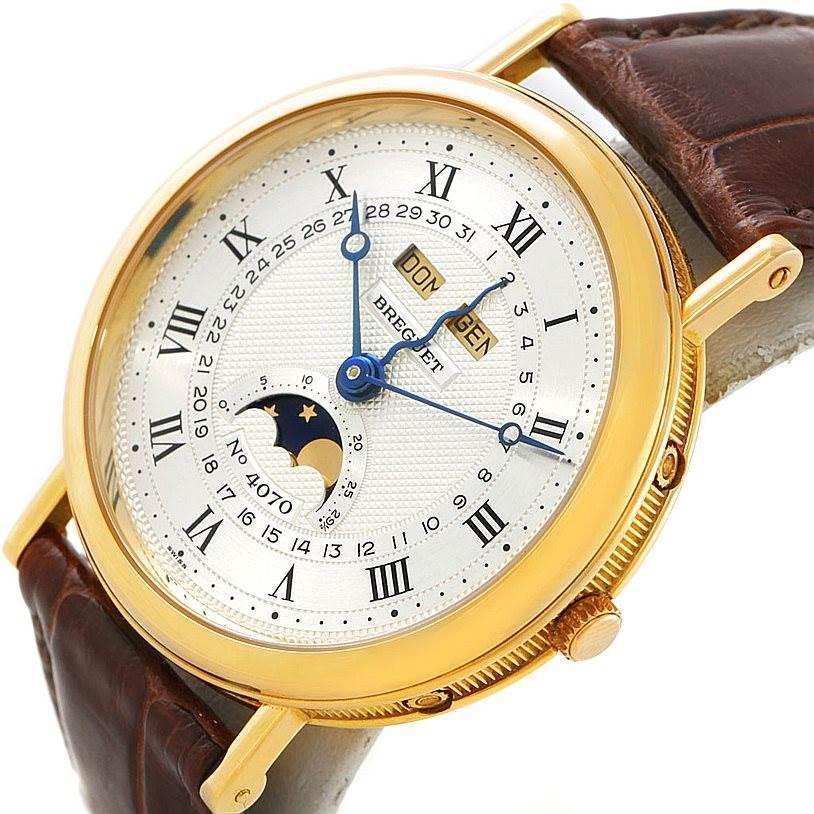 Breguet Serpentine 18K Yellow Gold Moon Phase Watch 3040 SwissWatchExpo