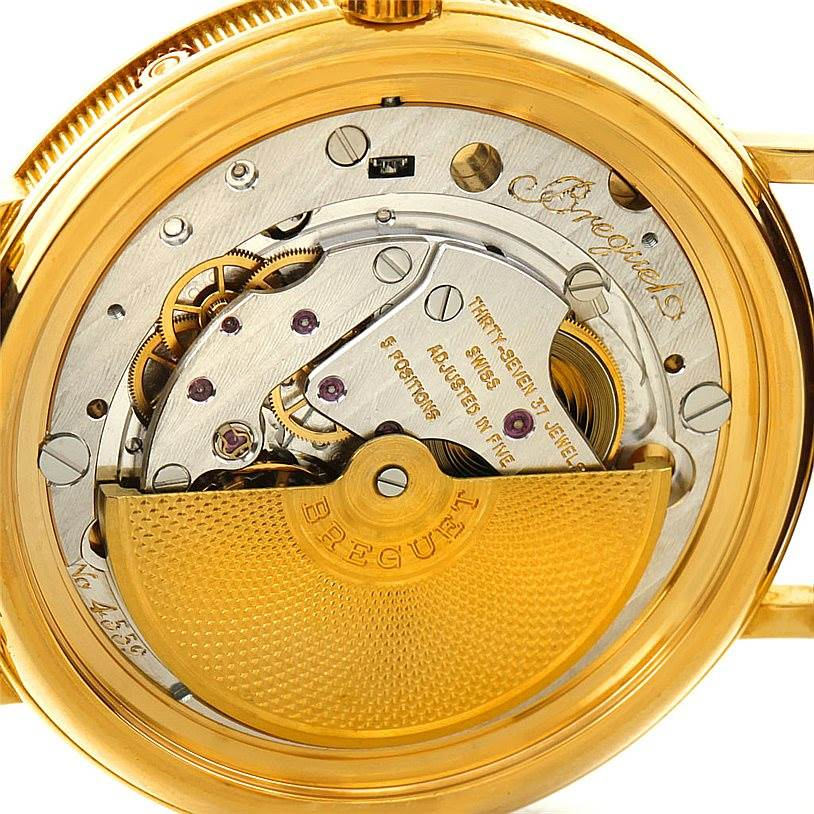 7414P Breguet Serpentine 18K Yellow Gold Moon Phase Watch 3040 SwissWatchExpo