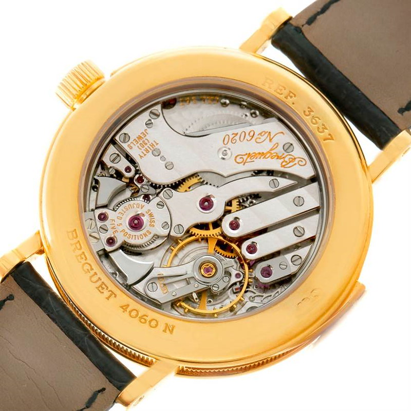 Breguet Minute Repeater 18K Yellow Gold Watch 3637 Box Papers SwissWatchExpo