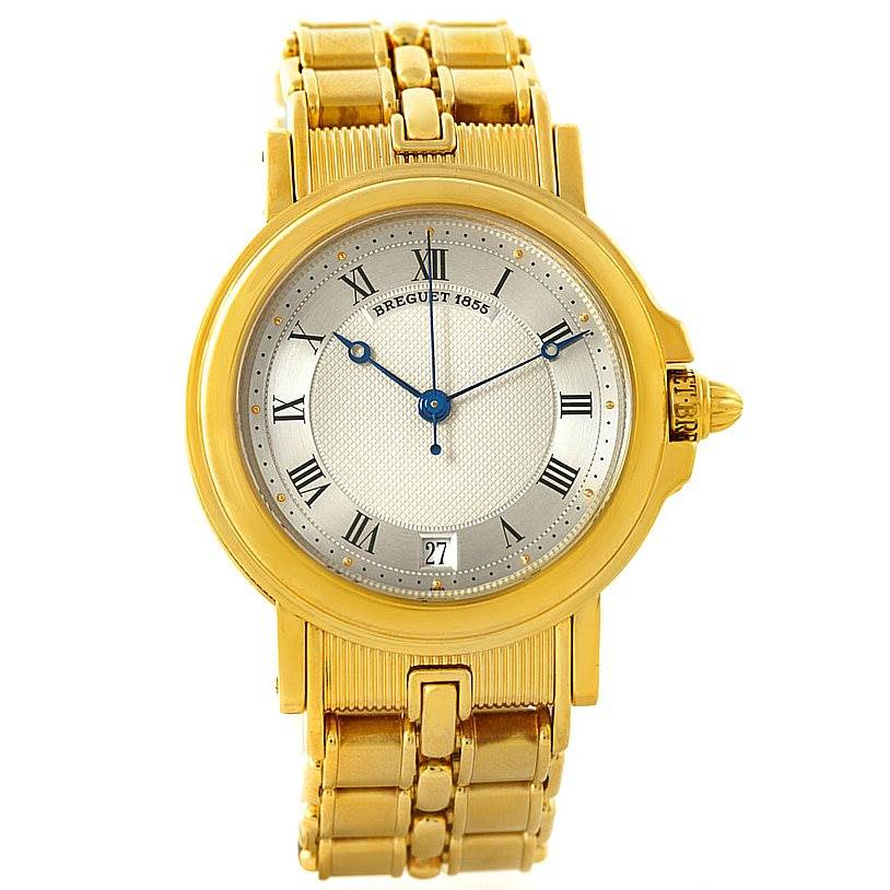 7689 Breguet Classique 18K Yellow Gold Mens Watch 3400 SwissWatchExpo