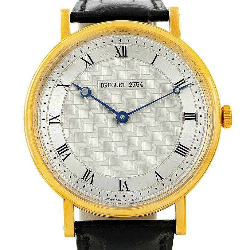 7783P Breguet Classique 18K Yellow Gold Mens Watch 5967 SwissWatchExpo