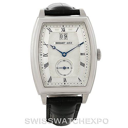 Breguet Heritage Big Date 18K White Gold Mens Watch 5480 SwissWatchExpo