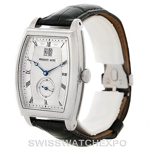 8168P Breguet Heritage Big Date 18K White Gold Mens Watch 5480 SwissWatchExpo
