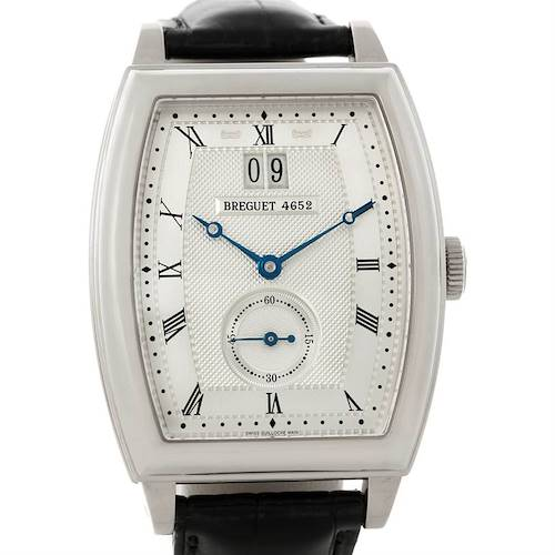 Photo of Breguet Heritage Big Date 18K White Gold Mens Watch 5480