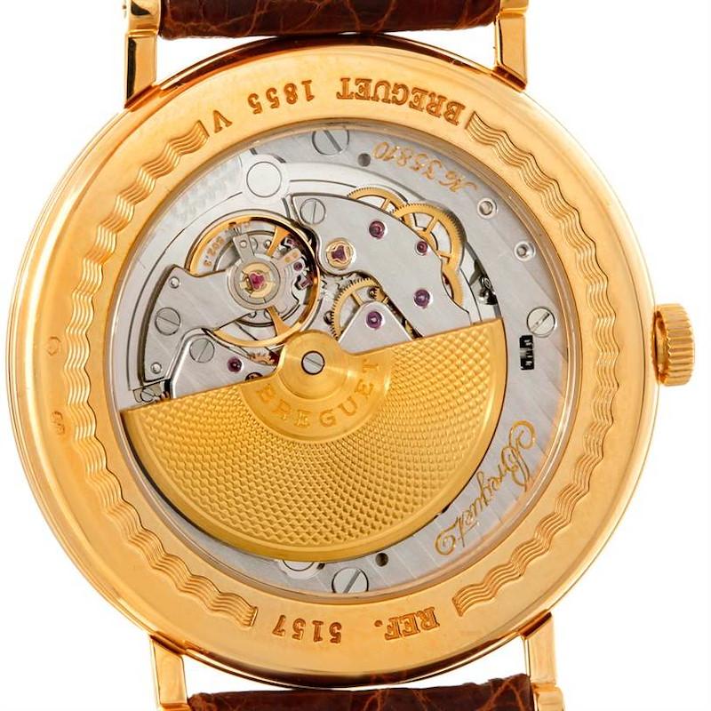 Breguet Classique 18K Yellow Gold Extra Thin Mens Watch 5157 SwissWatchExpo