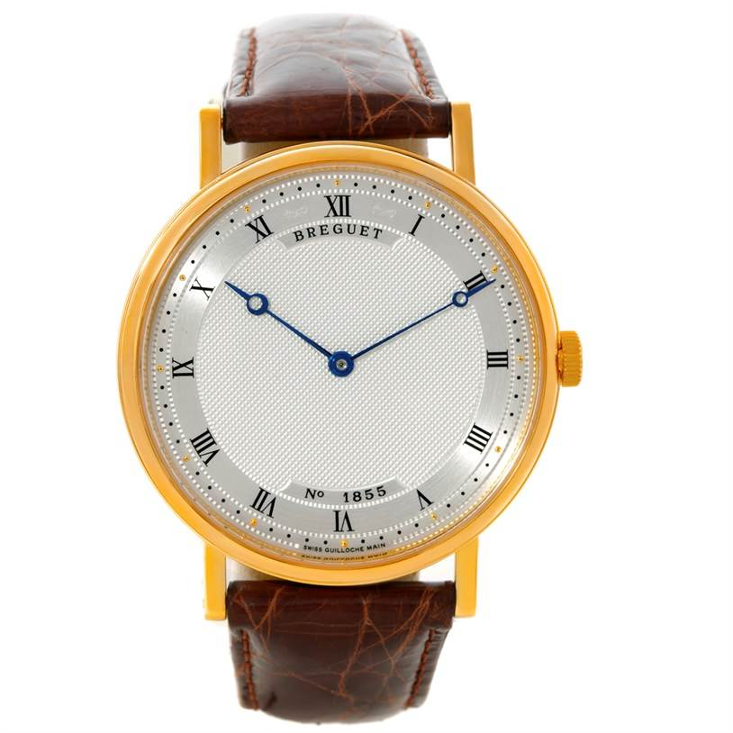 Breguet Classique 18K Yellow Gold Extra Thin Mens Watch 5157 SwissWatchExpo
