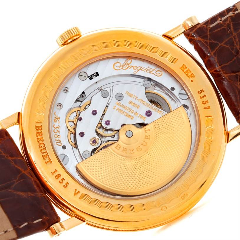 8640 Breguet Classique 18K Yellow Gold Extra Thin Mens Watch 5157 SwissWatchExpo