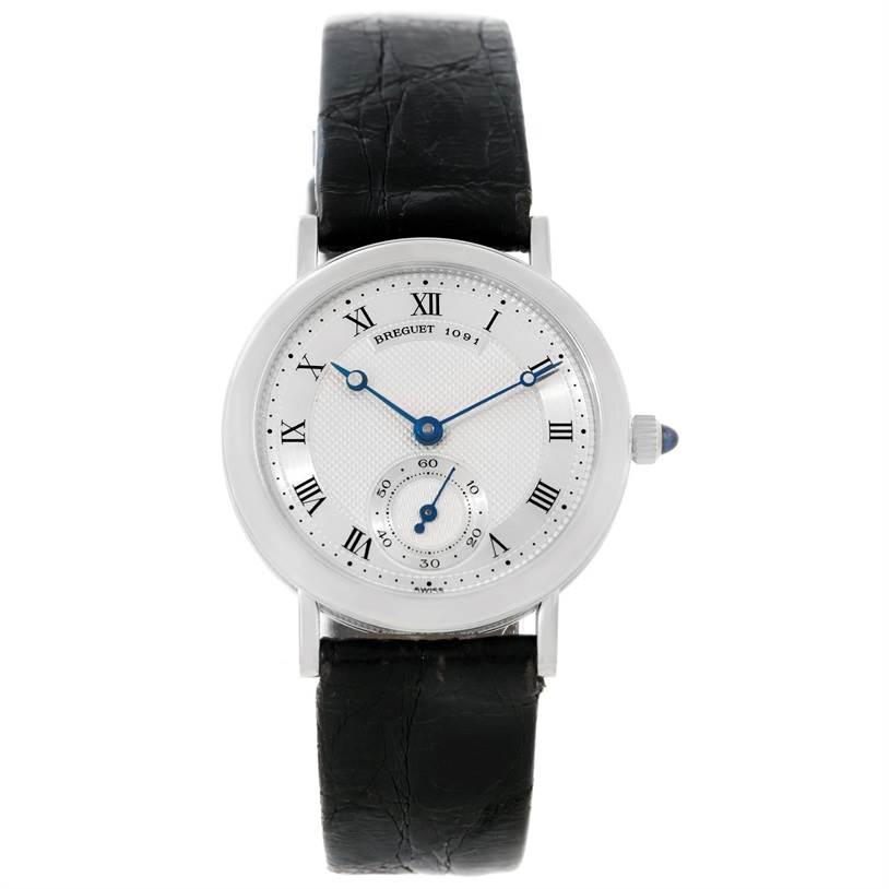 8928 Breguet Classique 18K White Gold Mechanical Mens Watch 3210 SwissWatchExpo