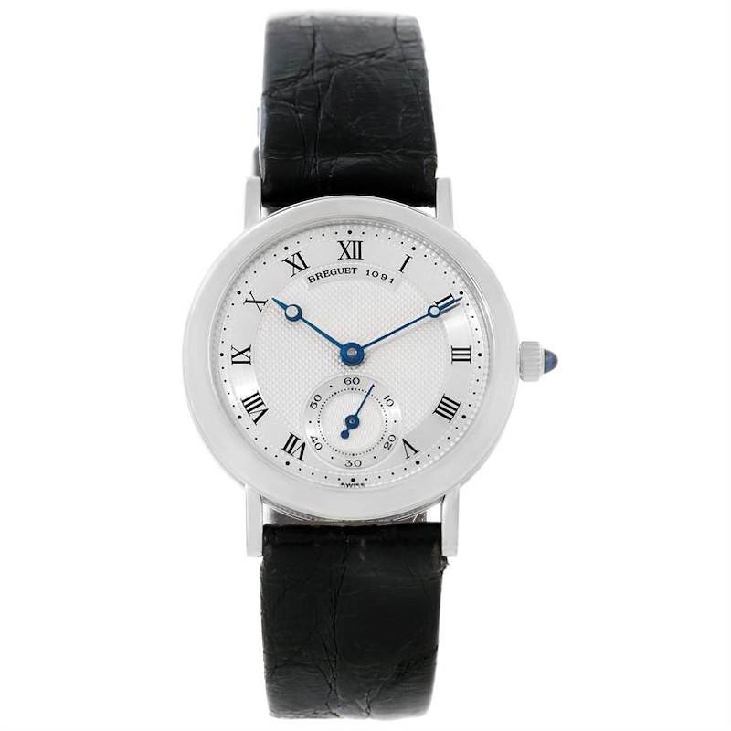 Breguet Classique 18K White Gold Mechanical Mens Watch 3210 SwissWatchExpo