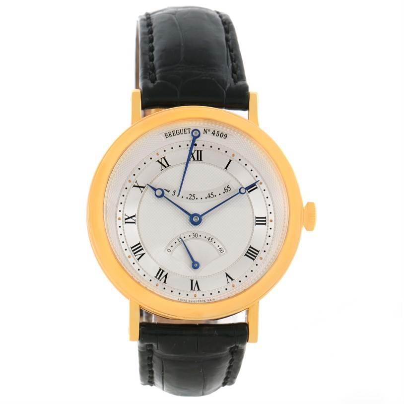 Breguet Classique Retrograde Seconds 18K Yellow Gold Mens Watch 5207ba/12/9v6 SwissWatchExpo