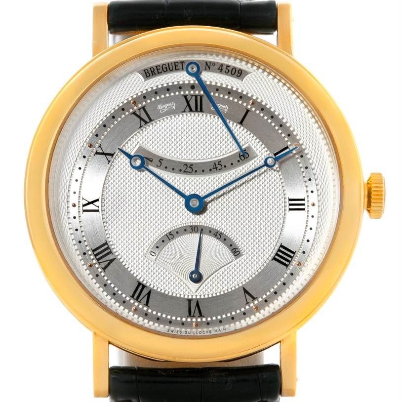 9160 Breguet Classique Retrograde Seconds 18K Yellow Gold Mens Watch 5207ba/12/9v6 SwissWatchExpo