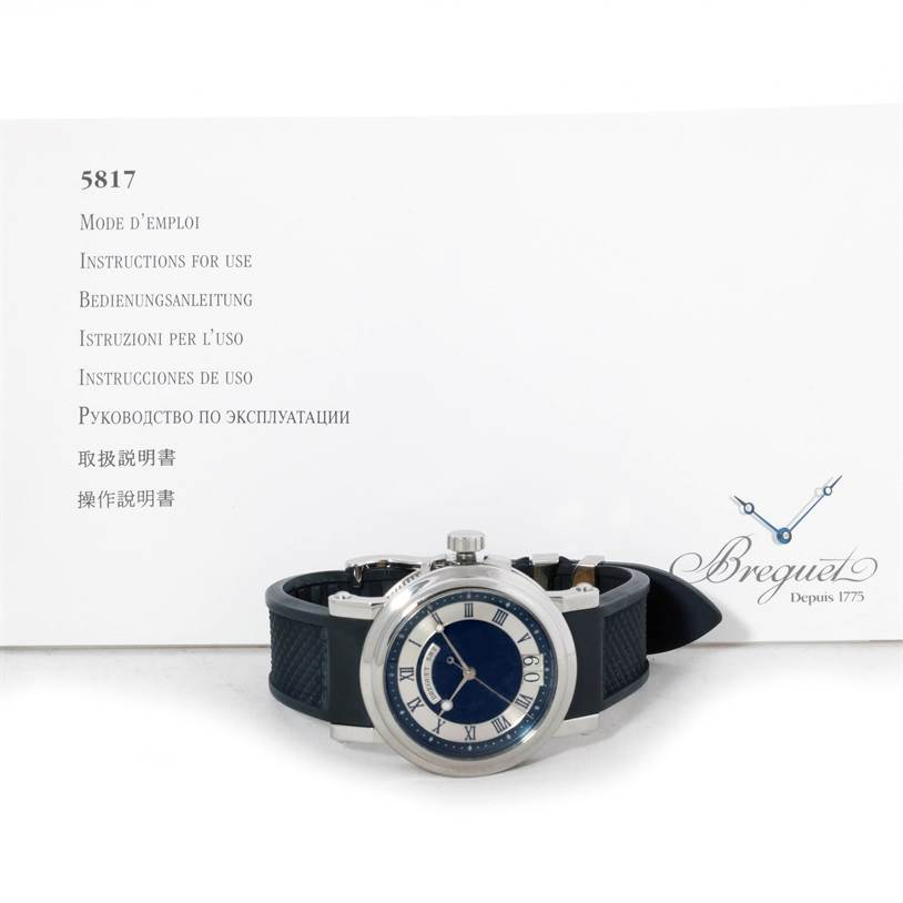 9158 Breguet Marine Big Date Automatic Stainless Steel Mens Watch 5817 SwissWatchExpo