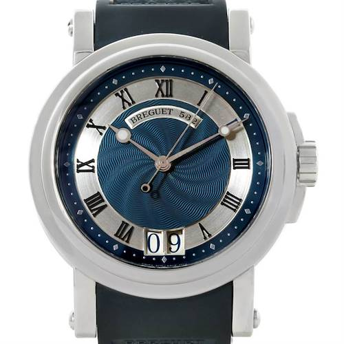 Photo of Breguet Marine Big Date Automatic Stainless Steel Mens Watch 5817