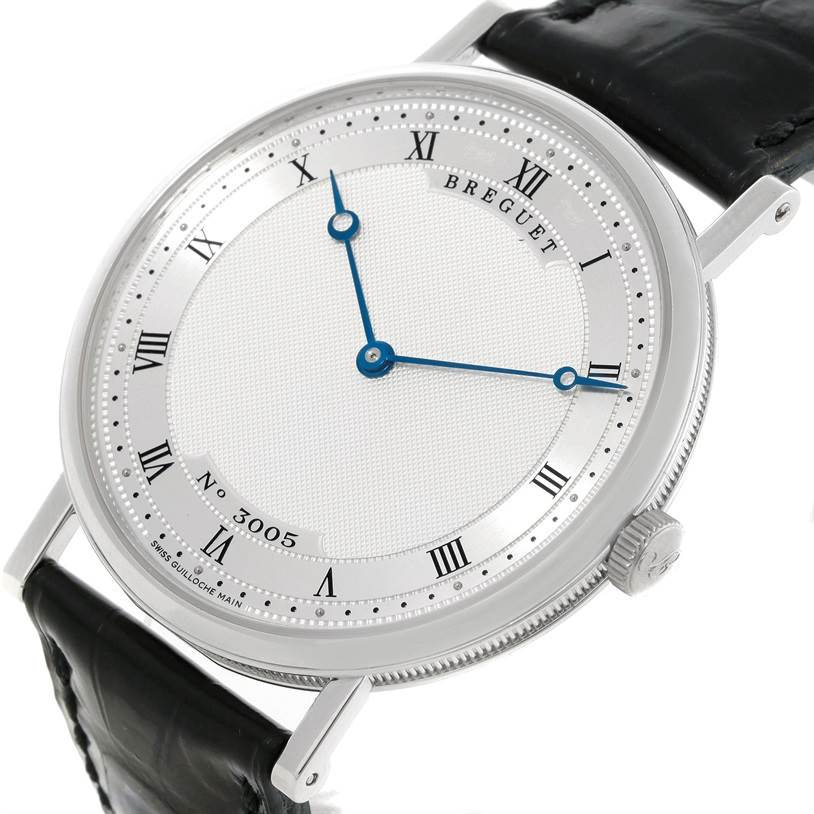 9161 Breguet Classique 18K White Gold Automatic Ultra Thin Watch 5157 SwissWatchExpo