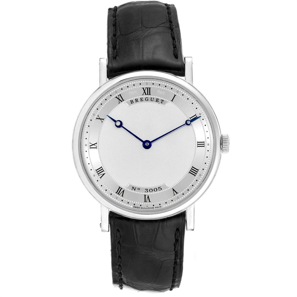 9161 Breguet Classique 38mm White Gold Ultra Thin Automatic Mens Watch 5157 SwissWatchExpo