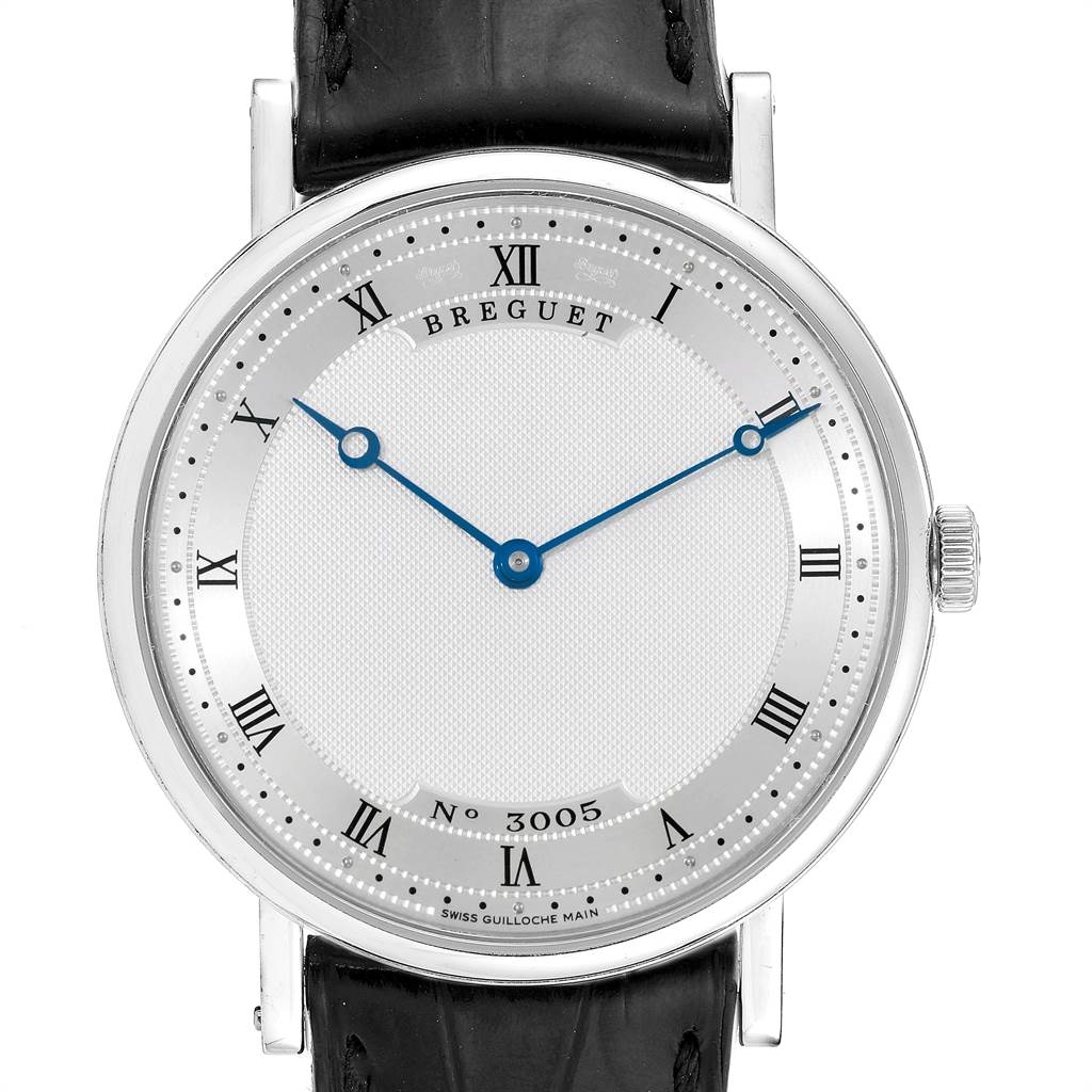 Breguet Classique 38mm White Gold Ultra Thin Automatic Mens Watch 5157