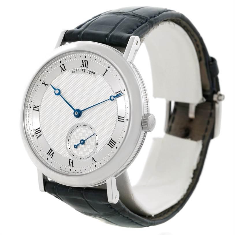 Breguet Classique 18K White Gold Automatic Mens Watch 5140 SwissWatchExpo