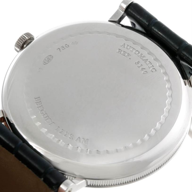 9162 Breguet Classique 18K White Gold Automatic Mens Watch 5140 SwissWatchExpo