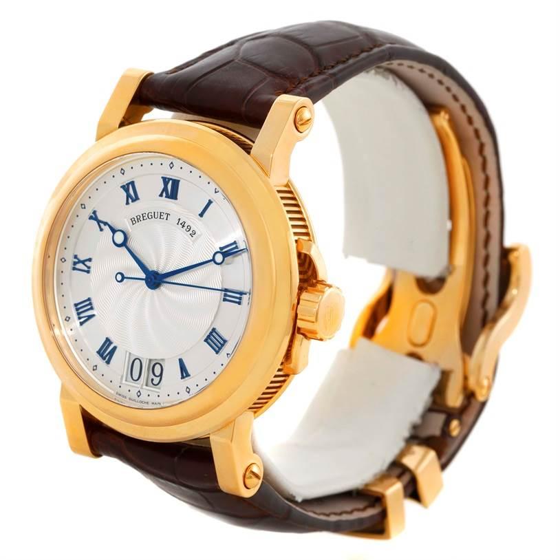 Breguet Marine Big Date Automatic 18K Yellow Gold Watch 5817BA Unworn SwissWatchExpo