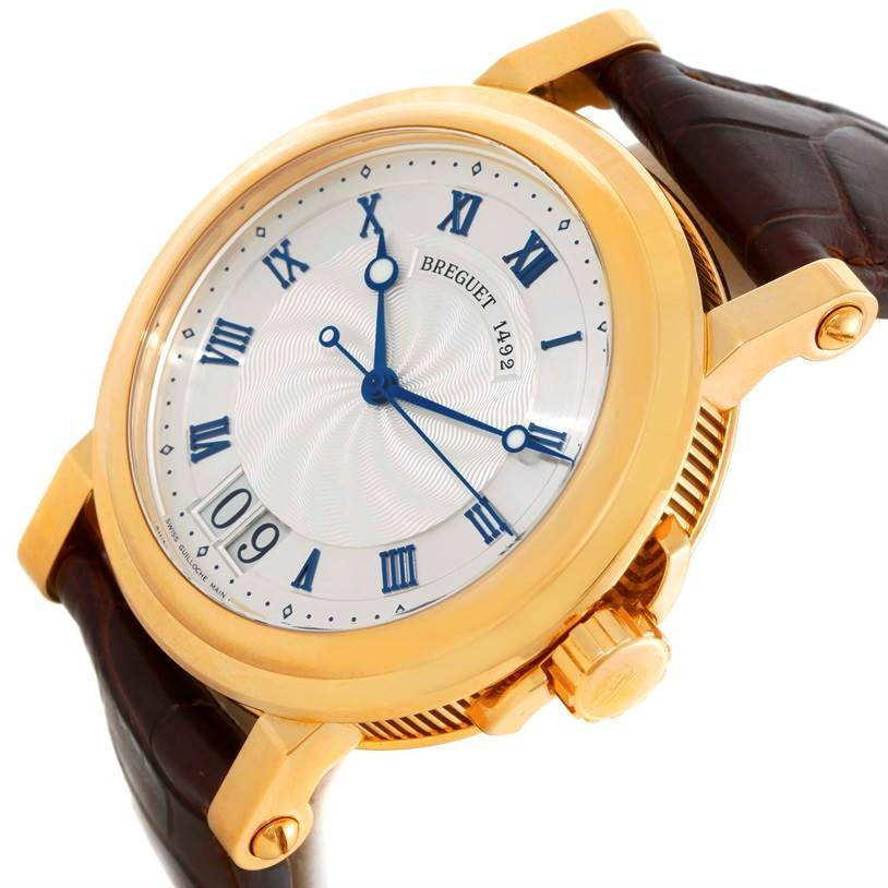 9553 Breguet Marine Big Date Automatic 18K Yellow Gold Watch 5817BA Unworn SwissWatchExpo