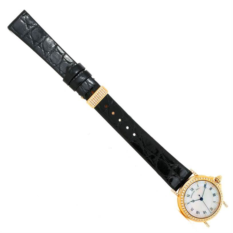 9695P Breguet Marine Automatic Ladies 18K Yellow Gold Diamond Watch 4471 SwissWatchExpo