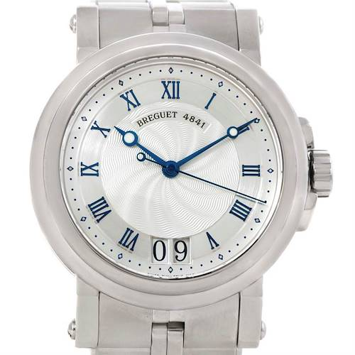 Photo of Breguet Marine Big Date Automatic Stainless Steel Watch 5817ST/12/SM0