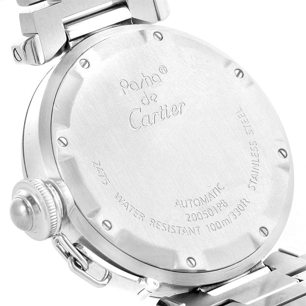 10327A Cartier Pasha Big Date Pink Dial Medium Automatic Steel Watch W31058M7 SwissWatchExpo