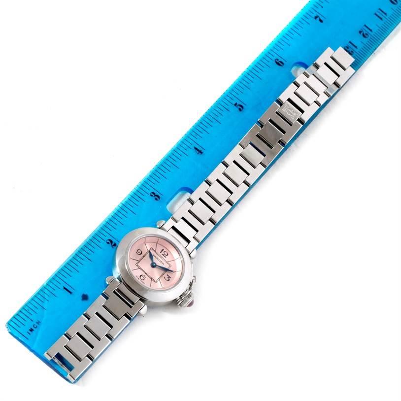 10328 Cartier Miss Pasha Small Steel Pink Dial Quartz Watch W3140008 SwissWatchExpo