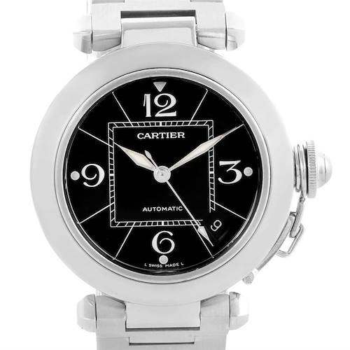 Photo of Cartier Pasha C 35mm Black Dial Stainless Steel Unisex Watch W31076M7